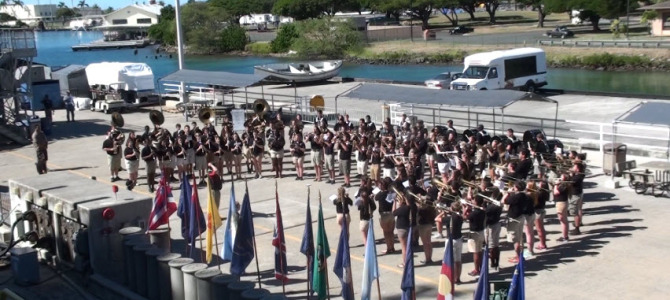 Certificate Presented to SHS Band for USS Missouri Performance